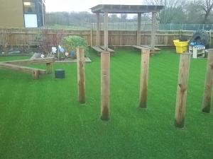 S-Shape Landscaping Grass Turf