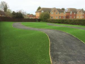 V-Shape Landscaping Grass Turf